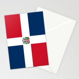 Flag of the dominican republic Stationery Cards
