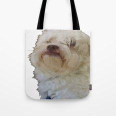 Grumpy Terrier Dog Face Tote Bag