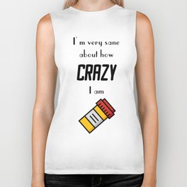 Carrie Fisher Crazy Quote Biker Tank