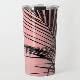 Palm leaves paradise with peach Travel Mug