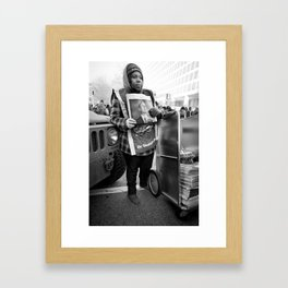 Newsgirl, 2013 Inauguration, Washington, DC. Framed Art Print