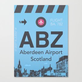 ABZ airport Canvas Print