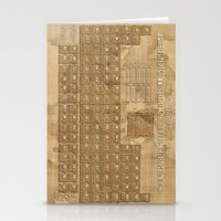 periodic table Stationery Cards featuring periodic table of elements by Bekim ART