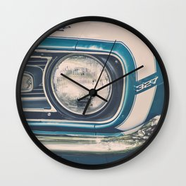 Blue Classic Camaro Wall Clock