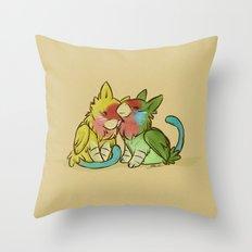 Lovebird Griffins  Throw Pillow