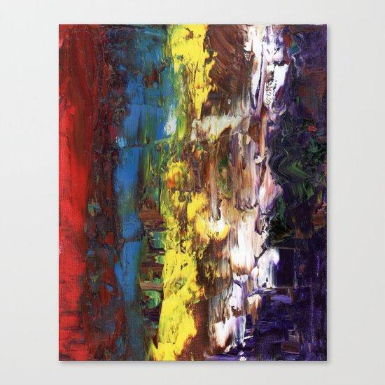 Abstract US Flag Canvas Print