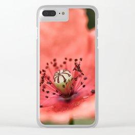 Poppy Macro Clear iPhone Case