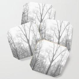Black and White Forest Illustration Coaster