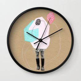 Geometric Collage 1 Wall Clock