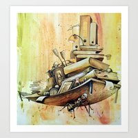 school Art Prints featuring school by Andreas Derebucha
