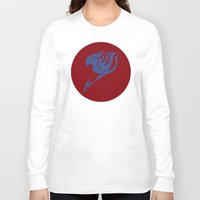 fairy tail Long Sleeve T-shirts featuring Fairy Tail Segmented Logo (Erza) circle by JoshBeck