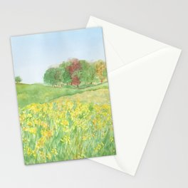 Field of Yellow Flowers Stationery Cards