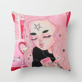 Our Lady of Broken Hearts Throw Pillow