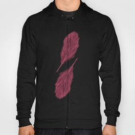 Twin Feathers - bordeux Hoody
