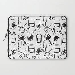 Wine Lovers Illustrated Wine Glasses and Wine Bottles Laptop Sleeve