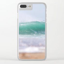 Sea Glass Waves Clear iPhone Case