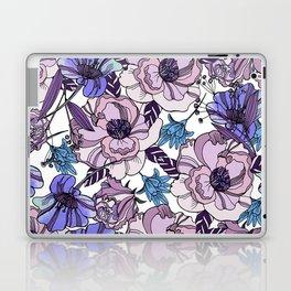 Cute beautiful floral seamless pattern. Ultraviolet roses, violas and meadow flowers. Laptop & iPad Skin