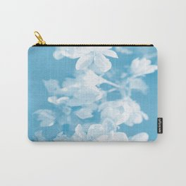 Spring Atmosphere White Flowers Sky Blue Background #decor #society6 #homedecor Carry-All Pouch