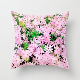 Pink Snow Throw Pillow