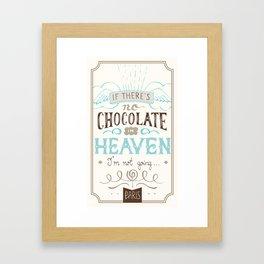 Chocolate lovers Framed Art Print