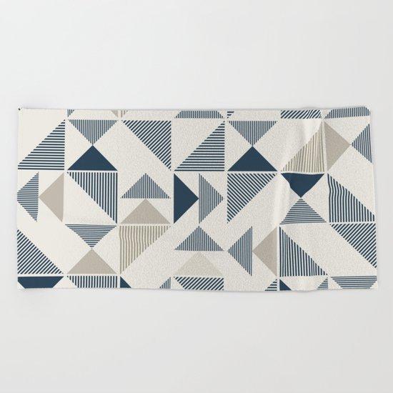 Abstract Geometric Triangle Pattern Beach Towel