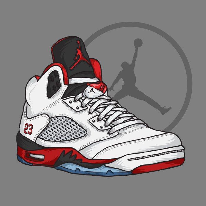 Jordan 5 (Fire Reds) Comforters
