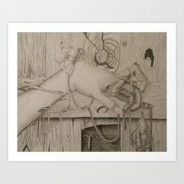CUMING TOGETHER . Art Print