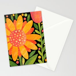 Textured Sunflower Stationery Cards