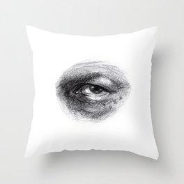 Eye Study Sketch 4 Throw Pillow