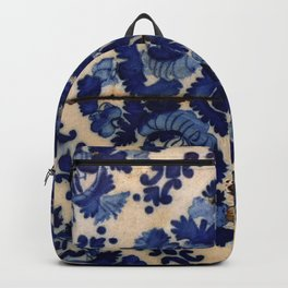 Blue old portuguese tile Backpack