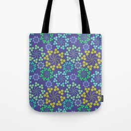 Fun Multicolored Whirligig Pattern Tote Bag