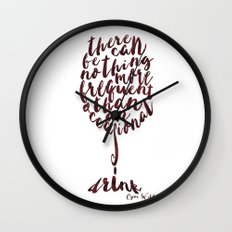 Drink - Oscar Wilde Wall Clock
