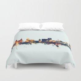 Buffalo New York Skyline Duvet Cover