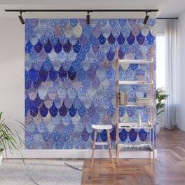 SUMMER MERMAID ROYAL BLUE Wall Mural