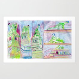LIBERTY UPSKIRTS Art Print