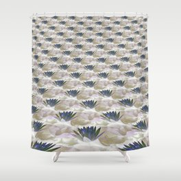 Lilies in the Clouds Fractal - IA Shower Curtain