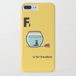 F is for freedom - the irony iPhone Case