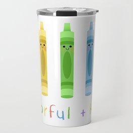 Colorful and Kind Crayons Travel Mug