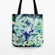 Jungle Jaguar Cat water colour illustration Tote Bag