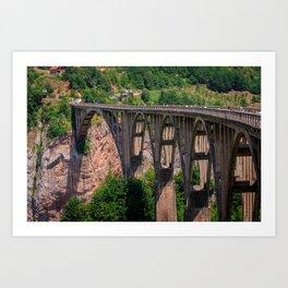 Durdevita Tara Bridge Montenegro Art Print