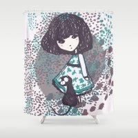 chihiro Shower Curtains featuring the chihiro girl #2 by dora .