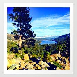 Lake & Mountains Art Print