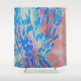 Blue Petal Surge Shower Curtain