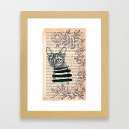 Gone with the cat Framed Art Print