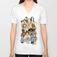 oitnb V-neck T-shirts featuring Daya, Bennet, & Pornstache OITNB by StephDere