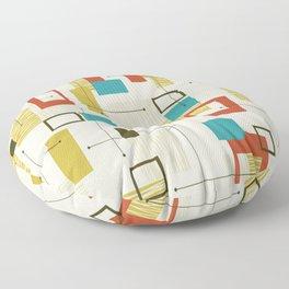 Mid Century Modern, Sputnik Pattern Floor Pillow