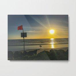 Sunset on Coronado Beach, California Metal Print