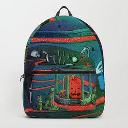 halloween village Backpack