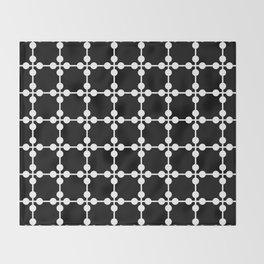 Droplets Pattern - Black & White Throw Blanket