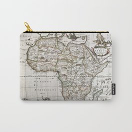 Vintage Africa map Carry-All Pouch